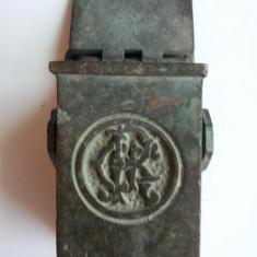 CFR-ROMANIA- SCRUMIERA METALICA PENTRU VAGON CFR ANII 20-30