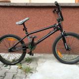 "Vand Bicicleta BMX Nespecificat ""2012 GT Performer 20"""", second hand, 22 inch, Numar viteze: 1, Negru-Verde, BMX freestyle"