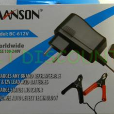 Incarcator acumulatori baterii cu acid 6V 5-8Ah 12V 5-8Ah BC-612V Vanson, De priza