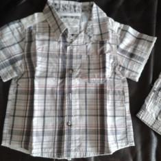 Set camasa si bermude de vara copii, marca OBAIBI, marime 86 cm / 18m/23 m, Culoare: Gri, Baieti