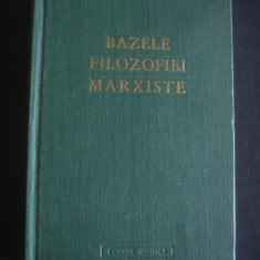 BAZELE FILOZOFIEI MARXISTE 1959