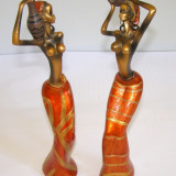 Set 2 statuiete cu tema africana