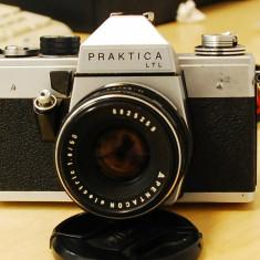 Aparat foto Praktica LTL + obiectiv Pentacon electric 50mm f1.8 - Aparat Foto cu Film Praktica, SLR, Mic