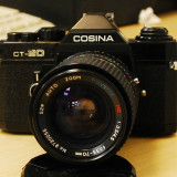 Aparat foto SLR Cosina CT-20 montura Pentax K + obiectiv Travenar 35-70, Mic