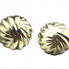 Cercei argint, model minimalist modern, manufactura Mexic, inspiratie Art Deco