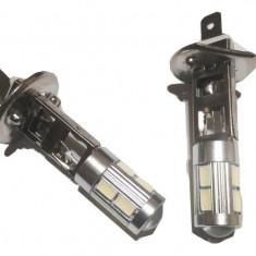 Leduri Auto - Bec led proiector ceata H1 8 SMD 5630 si 1 LED CREE XBD 5W cu lupa - Led auto G-View, Universal