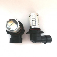 Leduri auto - Bec led proiector ceata HB4 / 9006 33 SMD 5630 cu lupa - Led auto G-View, Universal