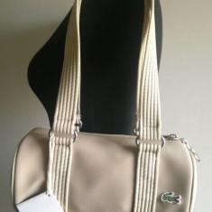 LACOSTE, Geanta Fashion Dama, PVC, 100% Original - Geanta Dama Lacoste, Culoare: Bej, Marime: Medie, Geanta umar manere scurte