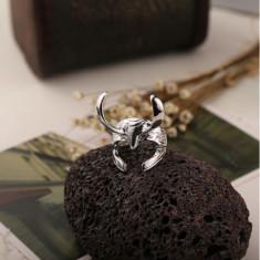 Inel THOR The Wark World LOKI - Casca - Culoare Argintiu - Inel barbati