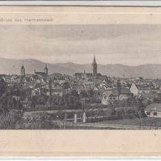 SALUTARI DIN SIBIU, VEDERE GENERALA - Carte Postala Transilvania 1904-1918, Necirculata, Printata