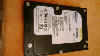 Hard Disk WD Western Digital 250GB - HDD Desktop 250GB WD2500 foto