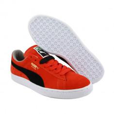 40_Adidasi originali barbati PUMA Originali_piele naturala_orange - Tenisi barbati