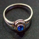 Inel vechi din argint cu piatra safir(15) - Inel argint