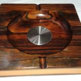 Scrumiera trabucuri veche de colectie Wood Art de Jean Gillon