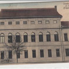 SALISTE, SCOALA ROMANA GR. OR. DIN SALISTE, FATADA PRINCIPALA - Carte Postala Transilvania dupa 1918, Necirculata, Printata