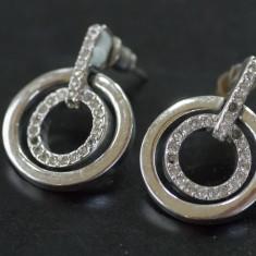 Cercei inelari din argint cu marcasite(16)