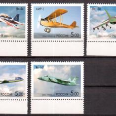 RUSIA 2006, Aviatie, serie neuzata, MNH - Timbre straine, Transporturi