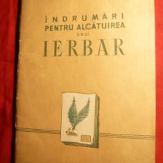 T.Ursu - Indrumari pt. alcatuirea unui Ierbar - Ed. 1957