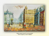 Paris - scena stradala 1 (tablou ulei pe panza 90x60cm)
