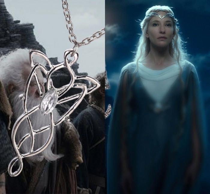 Pandantiv / Colier / Lantisor - Film LORD OF THE RINGS LOTR - Arwen Evenstar