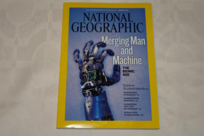 National Geographic - january 2010 - Merging man and machine - The bionic age foto