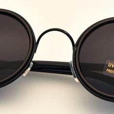 Ochelari de Soare Vintage Rotunzi Retro Chrome Hearts Reflectivi 4Culori, Unisex, Plastic, Protectie UV 100%