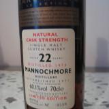 Whisky MANNOCHMORE, single malt scotch, distilled 1974, 22yo, cl.70 gr.60.1