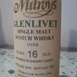 Whisky GLENLIVET, single malt scotch whisky, distilled 1978, 16yo, cl.70 gr.43
