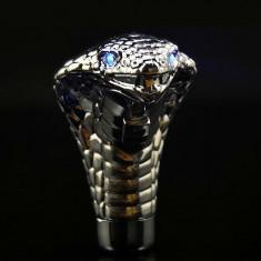 Maner nuca schimbator viteza Sarpe Cobra Blue Eyes ochi cu LED albastru +CADOU!