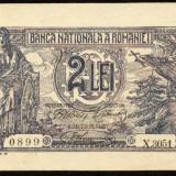 2 LEI 1920 UNC - Bancnota romaneasca