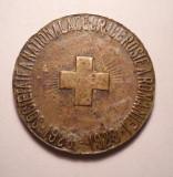 Medalie Crucea Rosie - Societatea Nationala de Cruce Rosie a Romaniei 1928 1929