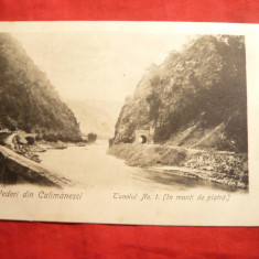 Ilustrata clasica cca.1900 - Calimanesti - Tunel 1 - Carte Postala Oltenia pana la 1904, Necirculata