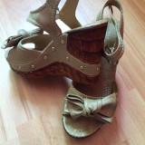 Vand sandale - Sandale dama, Culoare: Crem, Marime: 37