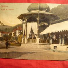 Ilustrata clasica Slanic Moldova - Cazinoul, inc.sec.XX -Ed.Maier si Stern - Carte Postala Moldova pana la 1904, Circulata