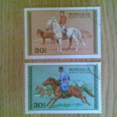MONGOLIA (2417) - CALARETI - timbre stampilate - Timbre straine