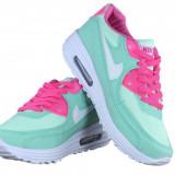 ADIDASI NIKE AIR MAX - Adidasi dama Nike, Culoare: Verde, Marime: 36, 38, Piele sintetica