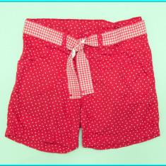 FRUMOSI _ Pantaloni scurti, talie reglabila, bumbac, H&M _ fete | 7 8 ani | 128, Marime: Alta, Culoare: Rosu