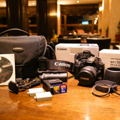 Canon 450D DSLR + Canon EF-S 18-55mm + Canon EF-S 55-250mm, Kit (cu obiectiv), 12 Mpx, Full HD