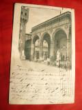 Ilustrata Florenta - Logia di Lanzi Italia ,circulat 1900 cu 10 C rosu, Circulata