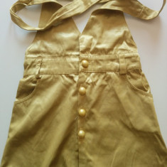 Sarafan cu fustita, rochita, marimea 3-5 ani, din saten,