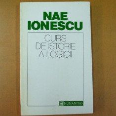 Nae Ionescu Curs istoria logicii Bucuresti 1993
