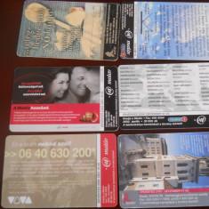 Cartele telefonice 6 buc Ungaria 4176/7 - Cartela telefonica straina