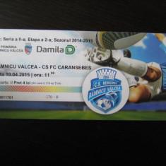 CSM Rm. Valcea - CS Caransebes (10 aprilie 2015) / bilet de meci - Bilet meci