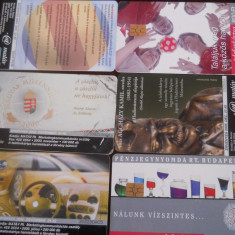 Cartele telefonice Ungaria 6 buc 4174/5 - Cartela telefonica straina