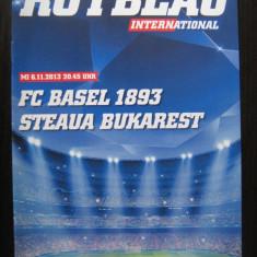 FC Basel - Steaua Bucuresti (6 noiembrie 2013) / program de meci - Program meci