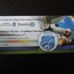 CSM Rm. Valcea - Unirea Tarlungeni (14 martie 2015) / bilet de meci - Bilet meci