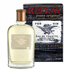 Replay Jeans Original! For Him EDT 50 ml pentru barbati - Parfum barbati Replay, Apa de toaleta