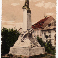 TARGUMURES STATUIA RAKOCZI FERENCZ II MAROSVASARHELY II RAKOCZI FERENCZ SZOBRA - Carte Postala Crisana 1904-1918, Circulata, Printata