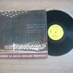 Orchestra de muzică populară ''Barbu Lăutaru'':Concert De Muzică Populară(vinil) - Muzica Populara electrecord