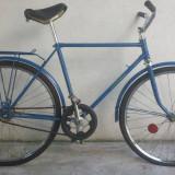 Bicicleta Clasica de colectie Vairas ( albastra) - Bicicleta de oras, 20 inch, 24 inch, Otel, Albastru, Curbat(Risebar)